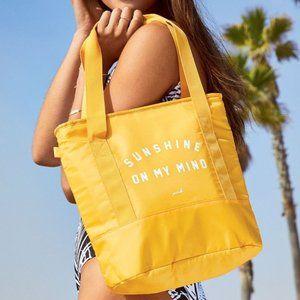 NIP VS Pink Yellow Cooler Tote Bag